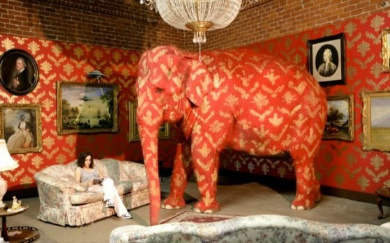 "Banksy's ""Elephant in Room"""