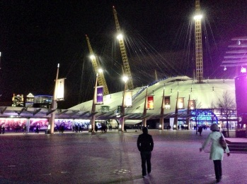 Walking to the entrance of the O2 arena