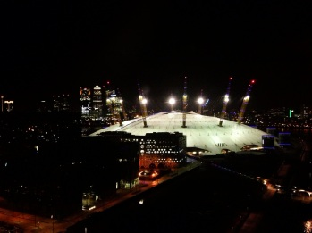 Aerial view of the O2 Arena