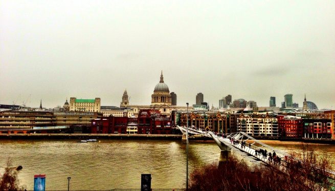 View of Millenium Bridge from Tate Modern