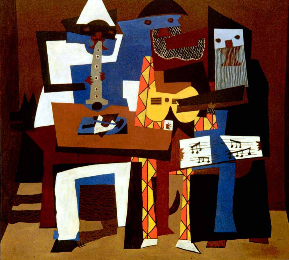 "Picasso's ""Three Musicians,"" an example of Cubism"