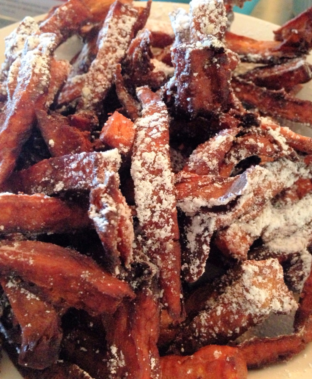 Sabrina's sweet potato fries - love!