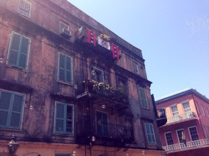 Walking through the French Quarter in New Orleans during JazzFest weekend