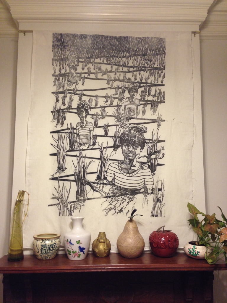Haunting tapestry in our Airbnb